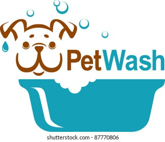 pet wash icon, logo design