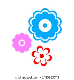 petals icon. Logo element illustration. petals symbol design. colored collection. petals concept. Can be used in web and mobile