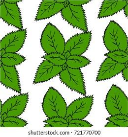 Petals mint vector illustration of style pattern