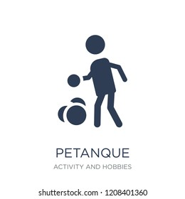 Petanque icon. Trendy flat vector Petanque icon on white background from Activity and Hobbies collection, vector illustration can be use for web and mobile, eps10