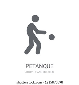 Petanque icon. Trendy Petanque logo concept on white background from Activity and Hobbies collection. Suitable for use on web apps, mobile apps and print media.