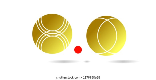 Petanque Icon - Petanque Vector illustration EPS 10. Bocce Ball Set Icon.