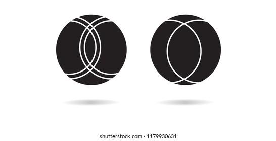 Petanque Icon - Petanque Vector illustration EPS 10. Bocce Ball Set Icon.