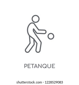 Petanque linear icon. Modern outline Petanque logo concept on white background from Activity and Hobbies collection. Suitable for use on web apps, mobile apps and print media.