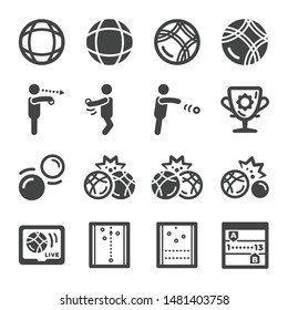 petanque sport and recreation icon set,vector and illustration