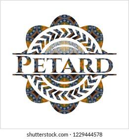 Petard arabic emblem. Arabesque decoration.
