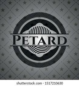 Petard black badge. Vector Illustration. Detailed.