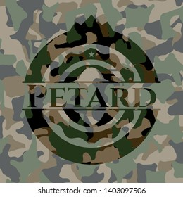 Petard camo emblem. Vector Illustration. Detailed.