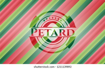 Petard christmas colors style badge.