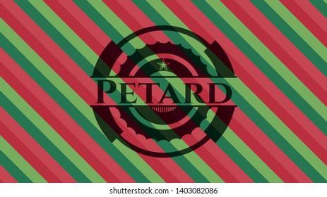 Petard christmas colors style emblem. Vector Illustration. Detailed.