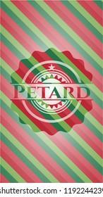 Petard christmas emblem background.