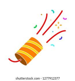 petard icon - petard isolated, firecracker illustration - Vector birthday fireworks