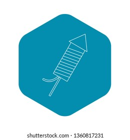 Petard icon. Outline illustration of petard vector icon for web