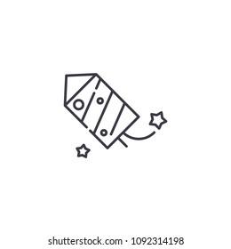 Petard linear icon concept. Petard line vector sign, symbol, illustration.