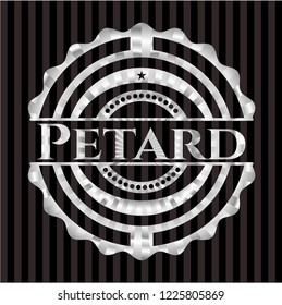 Petard silver badge or emblem