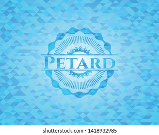 Petard sky blue mosaic emblem