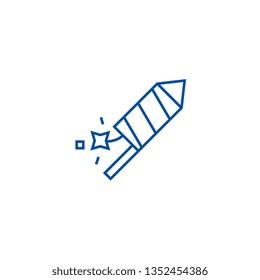 Petard,fire show line icon concept. Petard,fire show flat  vector symbol, sign, outline illustration.