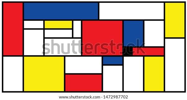 Pete Pieter Piet Mondriaan Mondrian Style Vintage