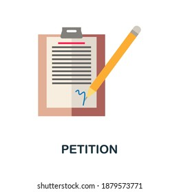 Petition flat icon. Color simple element from activism collection. Creative Petition icon for web design, templates, infographics and more