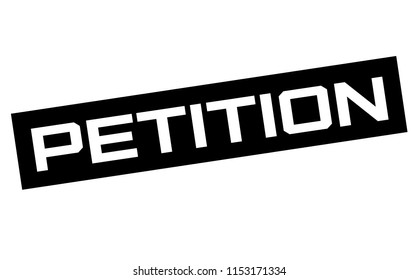 Petition typographic sign