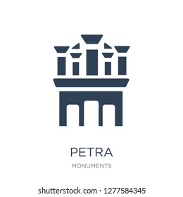 petra icon vector on white background, petra trendy filled icons from Monuments collection, petra vector illustration
