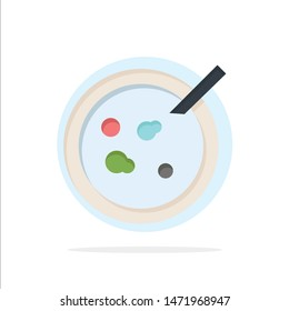 Petri, Dish, Analysis, Medical Abstract Circle Background Flat color Icon