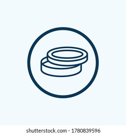 petri dish icon isolated on white background from scientific collection. petri dish icon trendy and modern petri dish symbol for logo, web, app,
