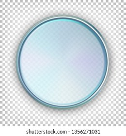 Petri dish. Top view. Vector illustration isolated on white transparent background.