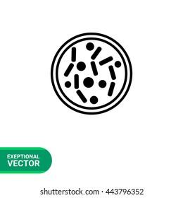 Petri Dish Vector Icon