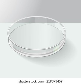 Petri dish. Vector illustration, fully editable
