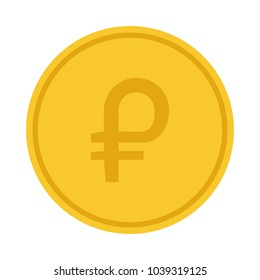 petro coin, venezuela national crypto currency, flat style vector illustration