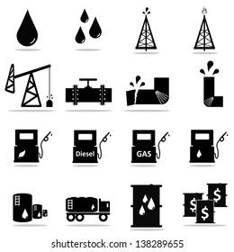 Petrochemical icon set