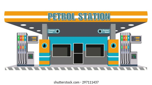 petrol diesel station with pump fuel