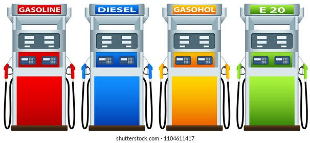 Petrol dispenser design graphic vector