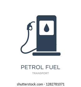 petrol fuel icon vector on white background, petrol fuel trendy filled icons from Transport collection, petrol fuel vector illustration