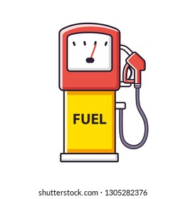 Petrol fuel pump, gas filling station isolated.