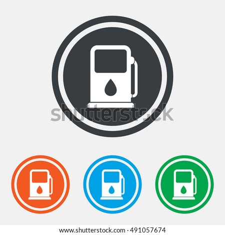 Petrol Gas Station Sign Icon Car Stock Vector Royalty Free