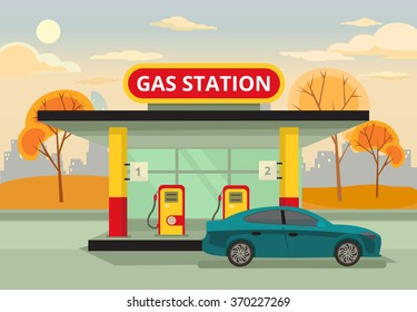 Low Gas Prices >> Petrol Station Cartoon Images, Stock Photos & Vectors | Shutterstock