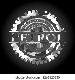 Petrol grey camouflage emblem