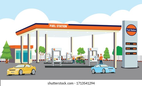 Petrol Pump for fuel the car and auto