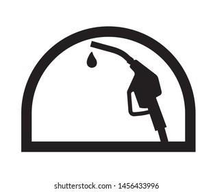 Petrol pump logo design vector art.
