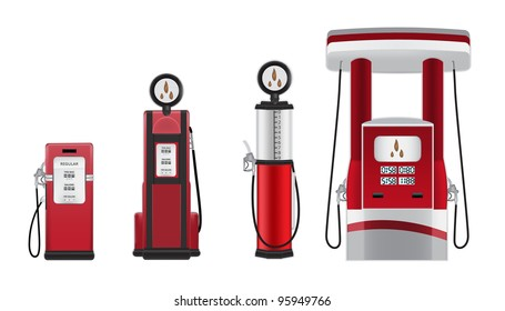 petrol pumps vector illustration