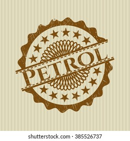 Petrol rubber stamp with grunge texture