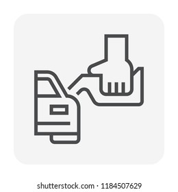 Petrol station and equipment icon design, editable stroke.