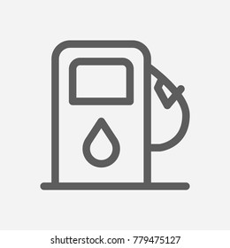 Petrol station icon line symbol. Isolated vector illustration of refueling sign concept for your web site mobile app logo UI design.