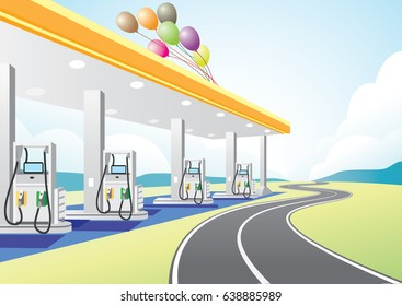 Petrol Station near highway for extra miles.