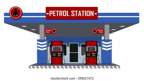 petrol station with pump fuel