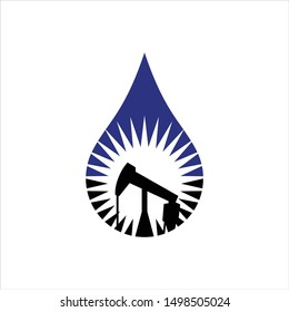 Petroleum and Gas Exploration Logo. Rig and Drill Oil Symbol. Icon Vector Eps 10.