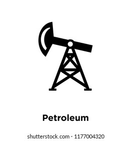 Petroleum icon vector isolated on white background, logo concept of Petroleum sign on transparent background, filled black symbol