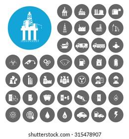 Petroleum icons set. Illustration EPS10